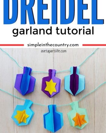 Dreidel Garland Craft for Hanukkah