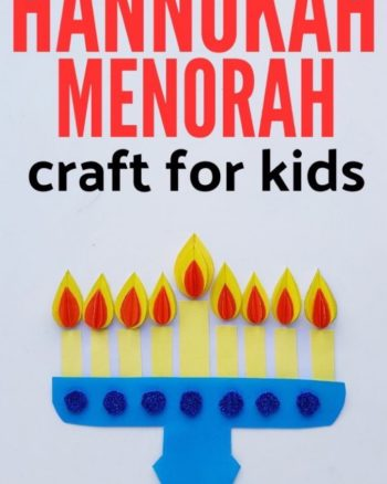 Hanukkah Menorah Craft for Kids