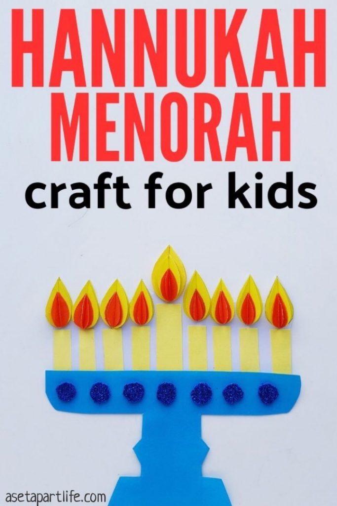 Hanukkah Menorah Craft for Kids