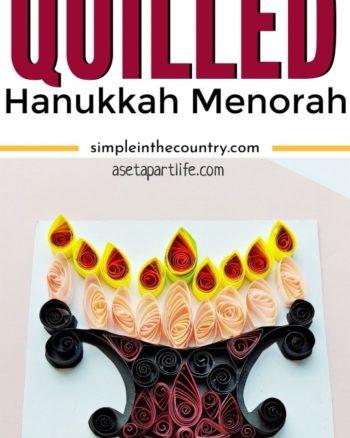 Quilled Hanukkah Menorah