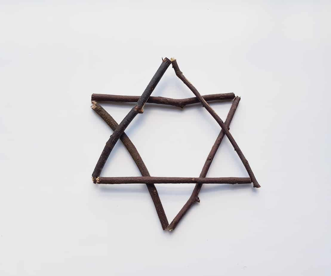 Easy Star of David Wreath